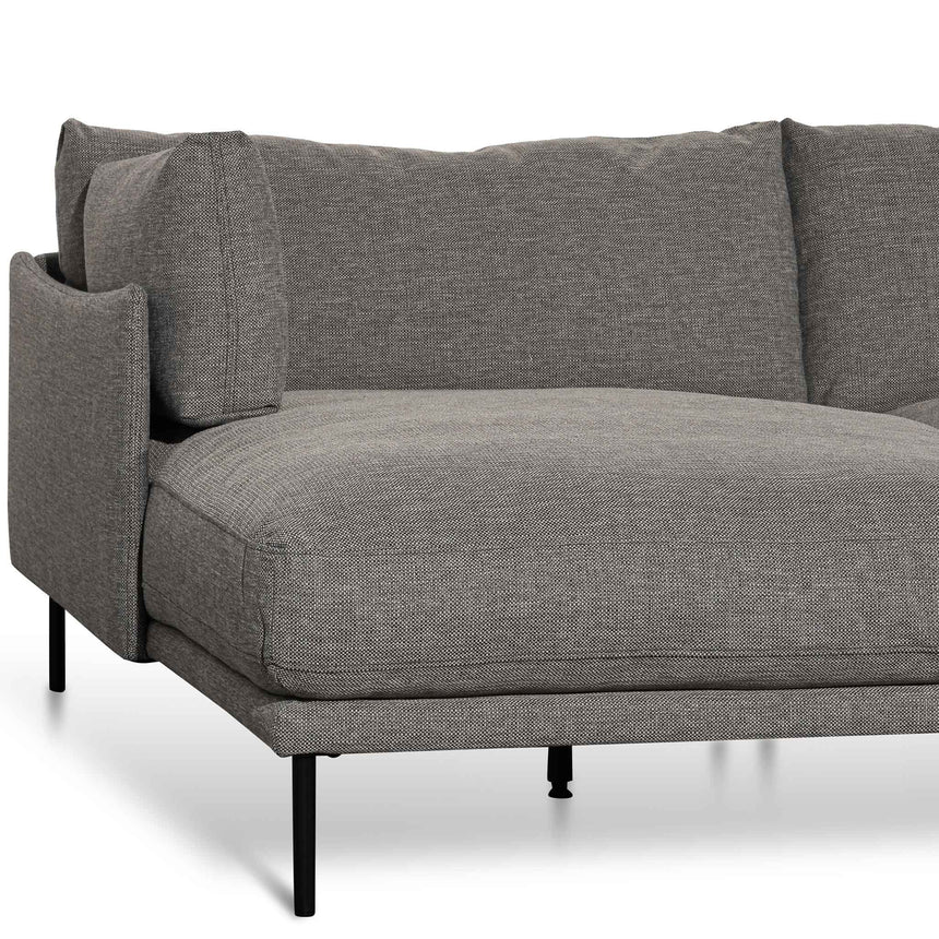 CLC6435-KSO 4 Seater Left Chaise Fabric Sofa - Oslo Grey