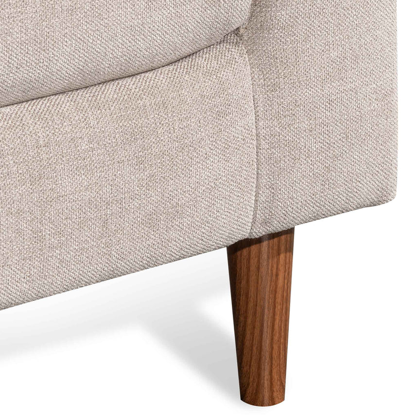 CLC6437-KSO Fabric Armchair - Oyster Beige with Walnut Leg