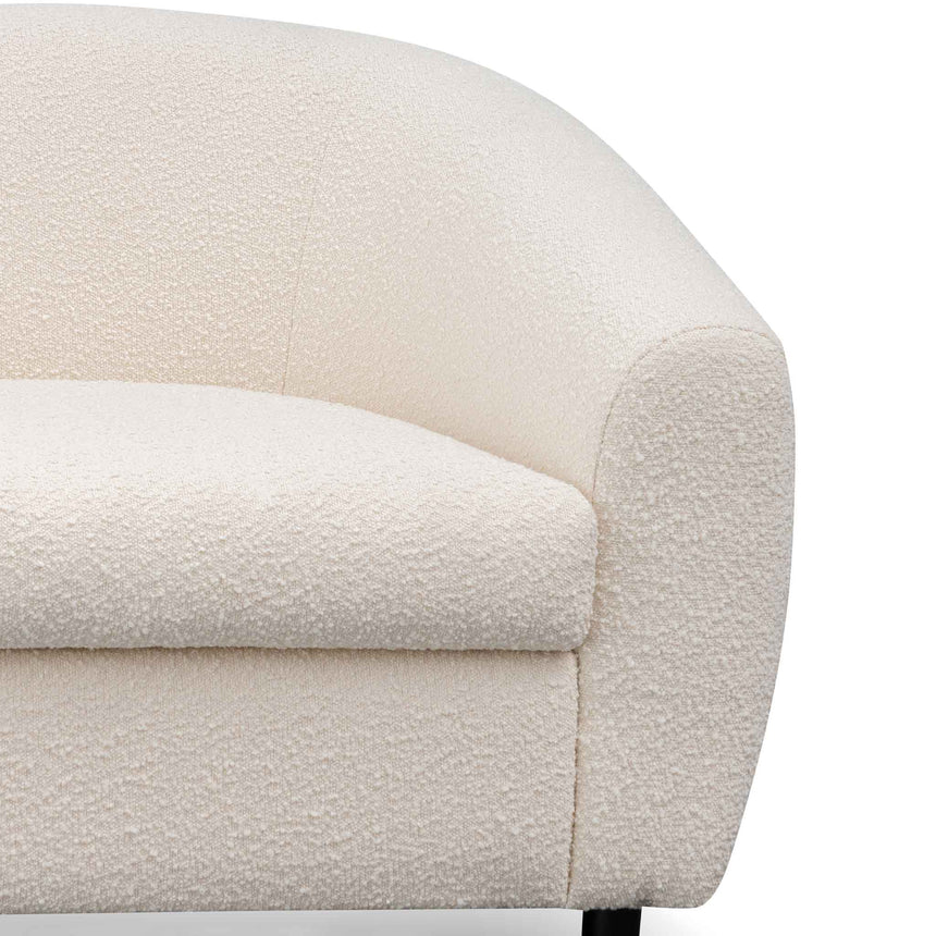 CLC6493-CA  3 Seater Fabric Sofa - White Synthetic Wool