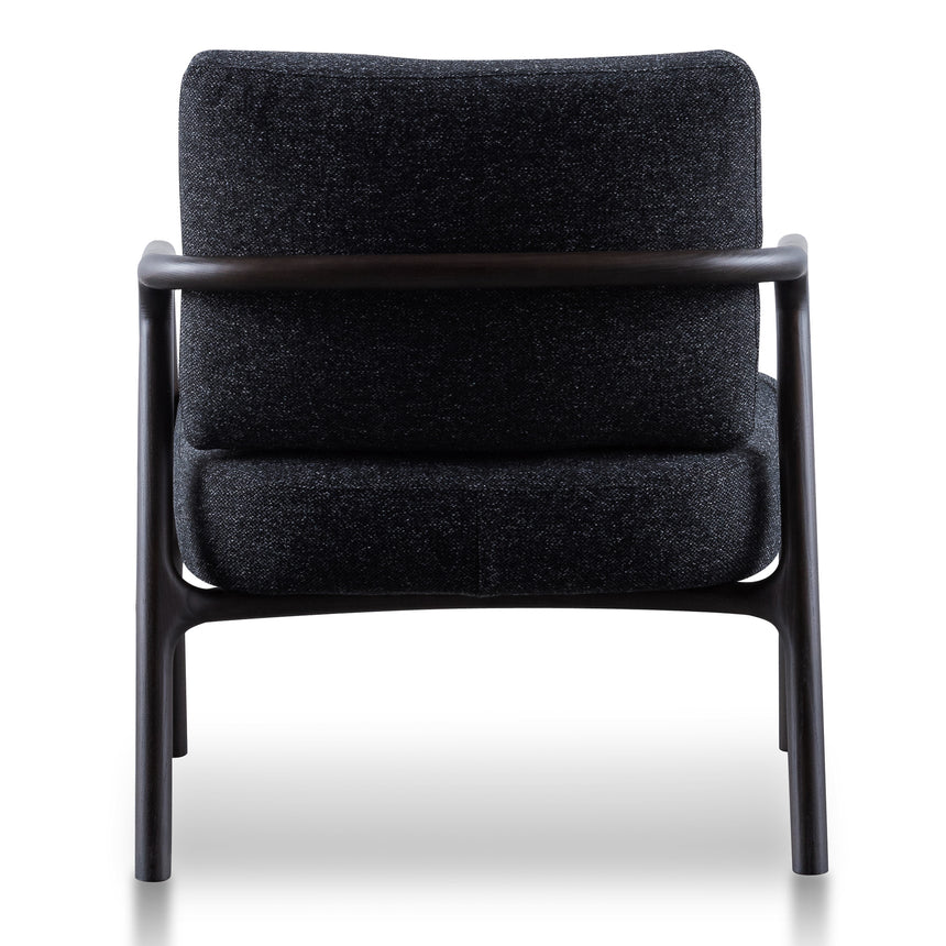 CLC6173-SKS Fabric Armchair - Pitch Charcoal with Black Legs