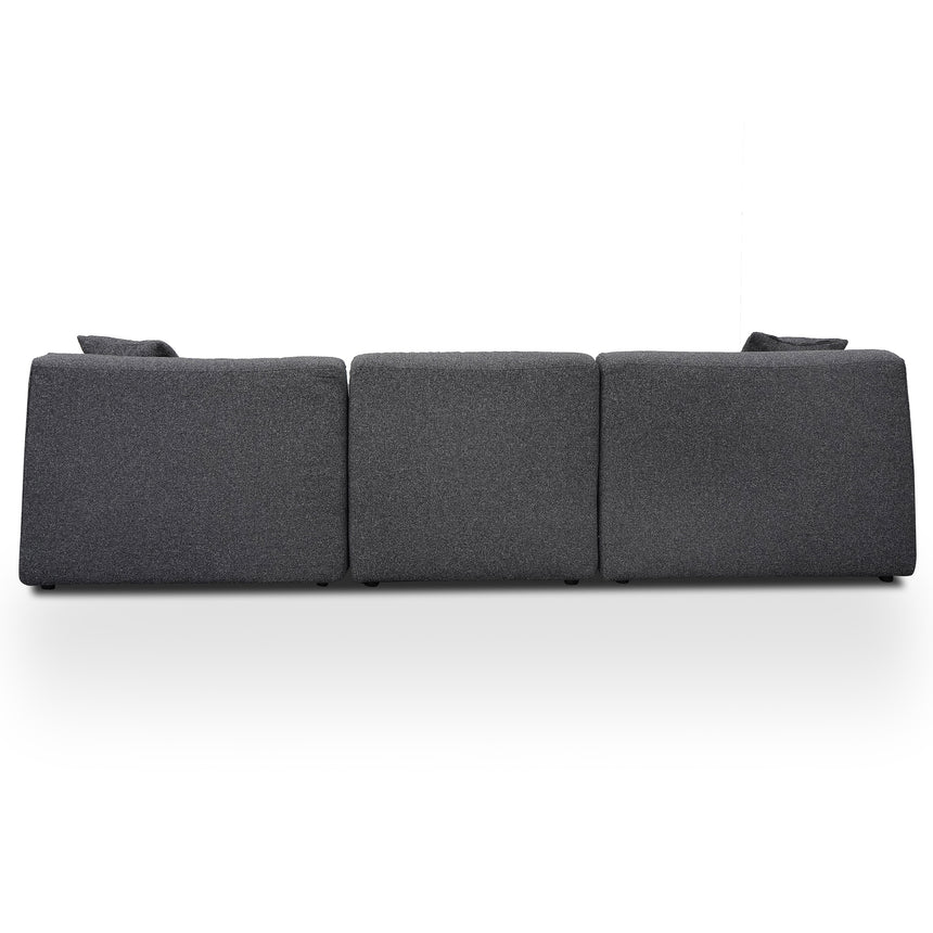 CLC2716-YY 3 Seater Right Chaise Sofa - Dark Grey