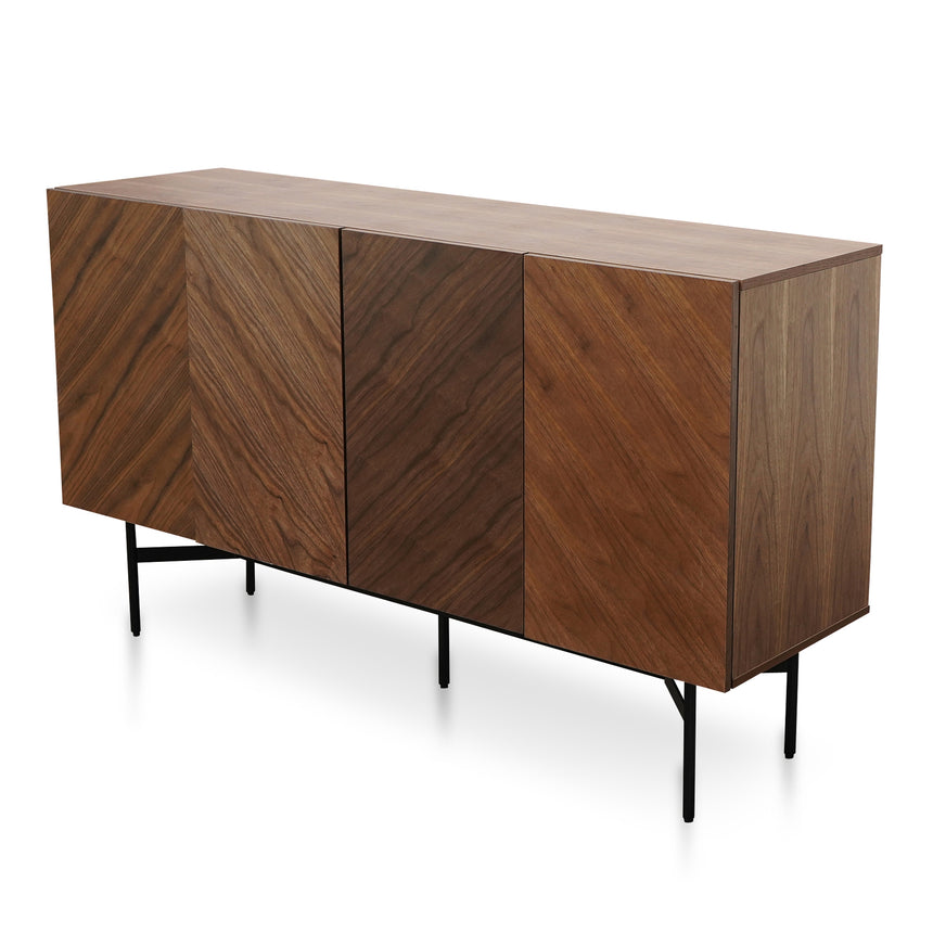 CDT2711-IG 150cm Buffet Unit - Walnut with Black Frame