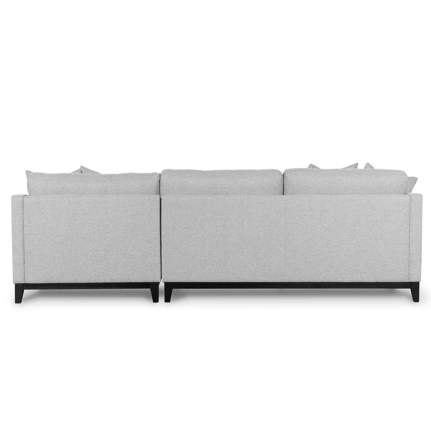 CLC6373-CA 3 Seater Right Chaise Fabric Sofa - Grey