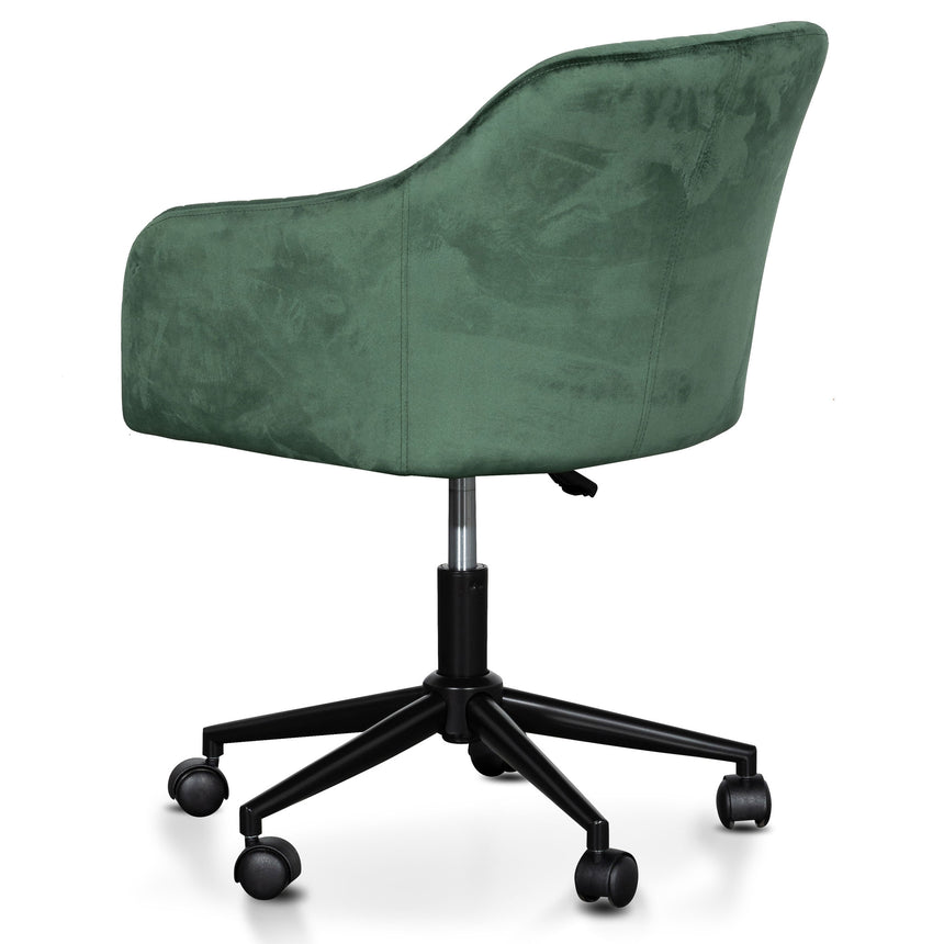 COC6211-SE Velvet Office Chair - Dark Green