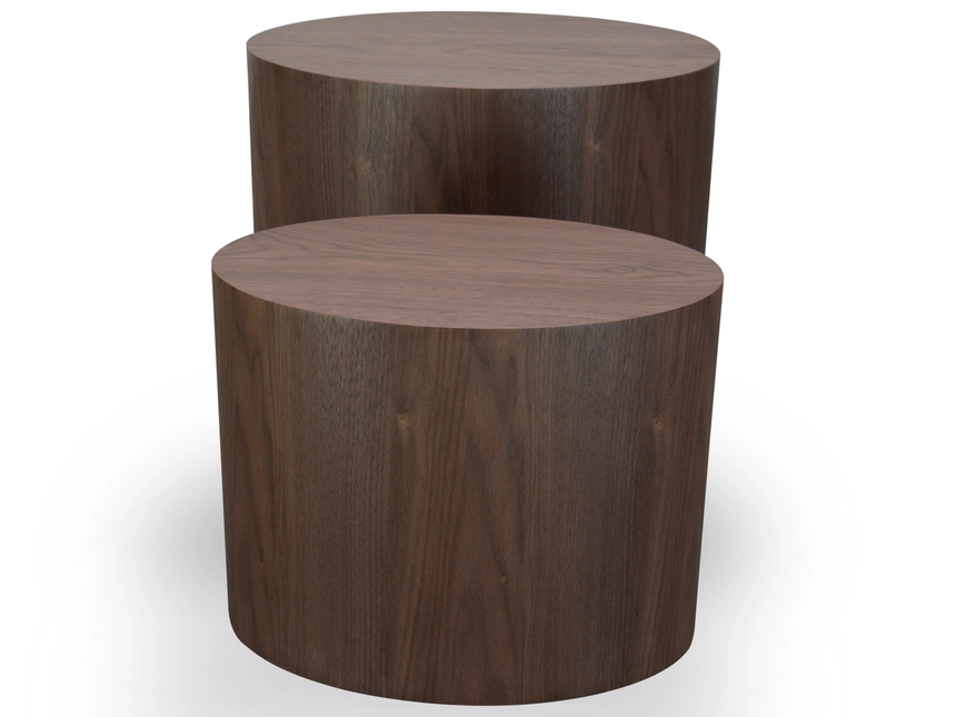 CCF1000-DW Scandinavian Wooden Side Tables - Walnut