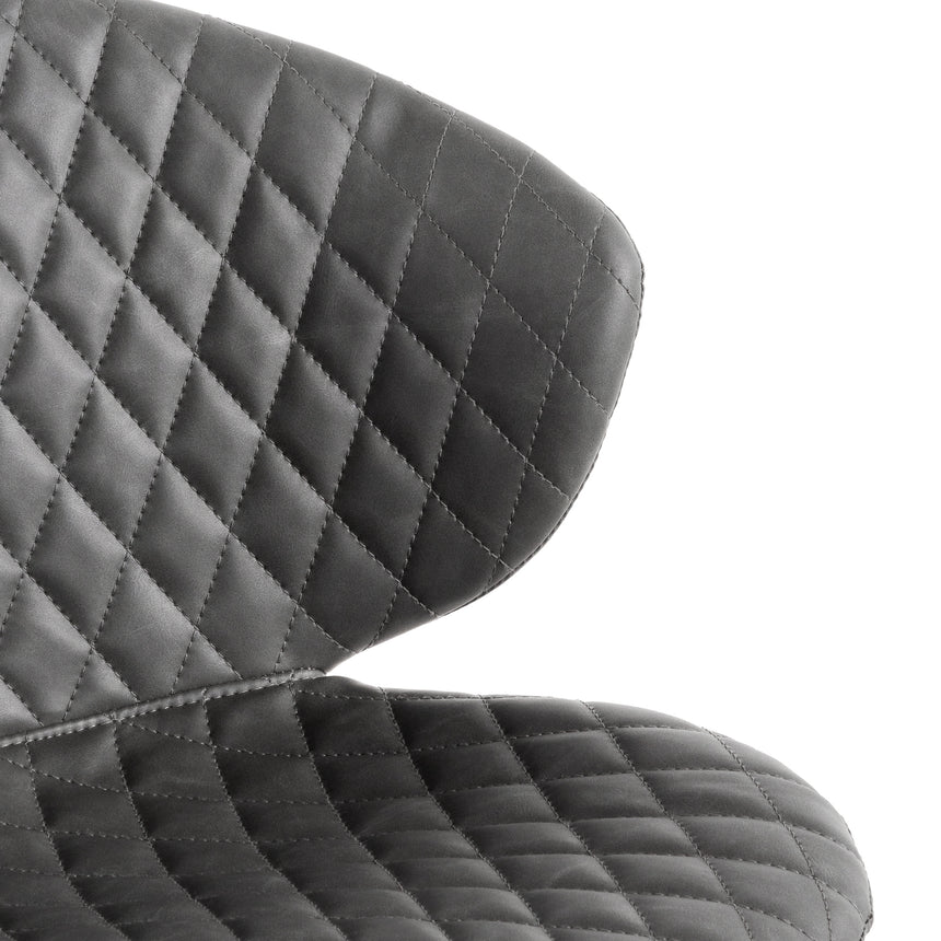 COC6194-LF Office Chair - Charcoal with White Base