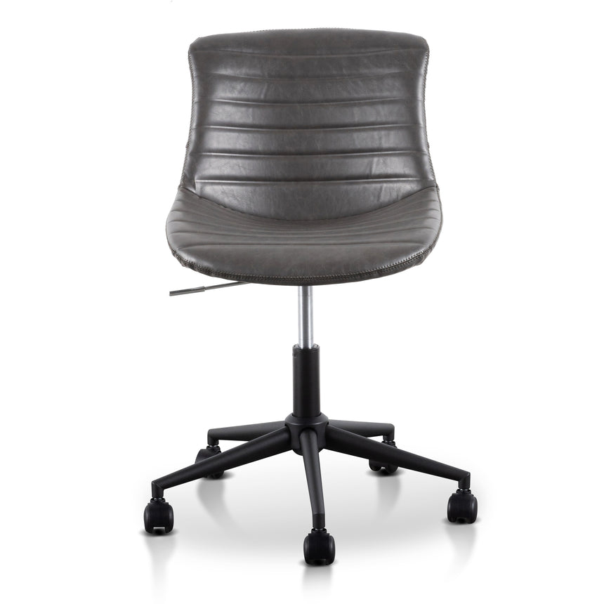COC6239-UN Space Blue Fabric Office Chair - White Base