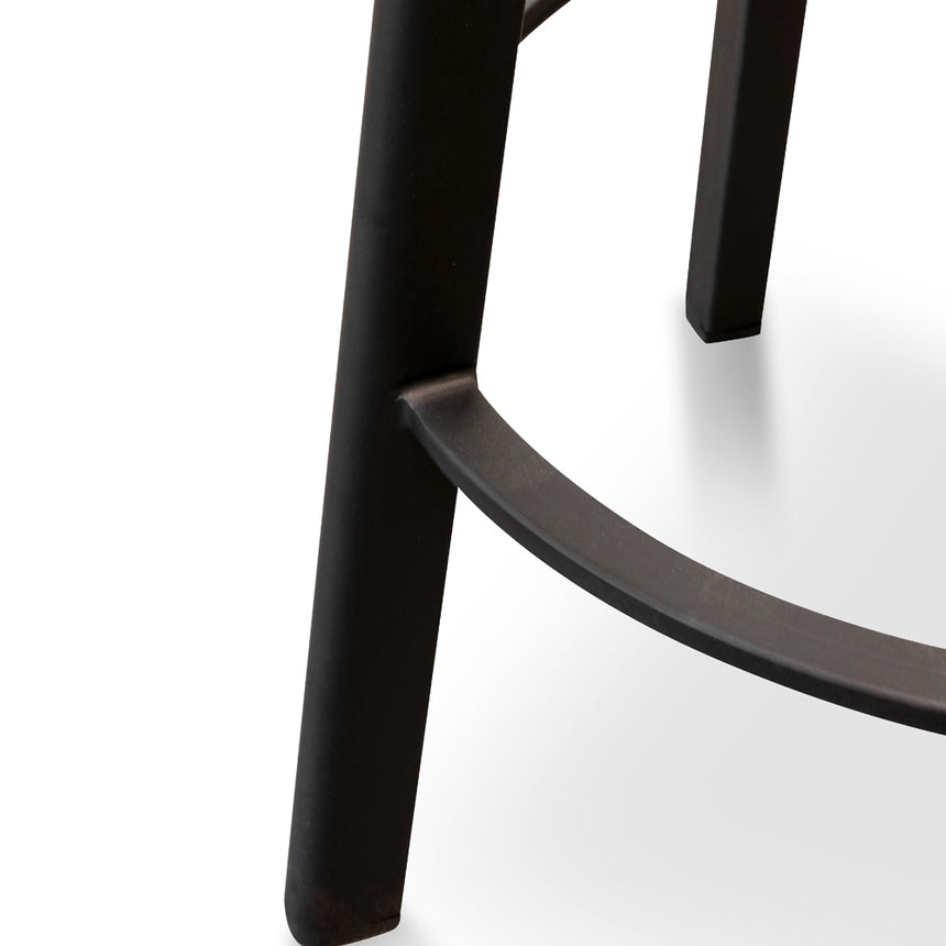 CBS2467-NH 65cm Bar Stool -With Natural Timber Seat - Black Frame