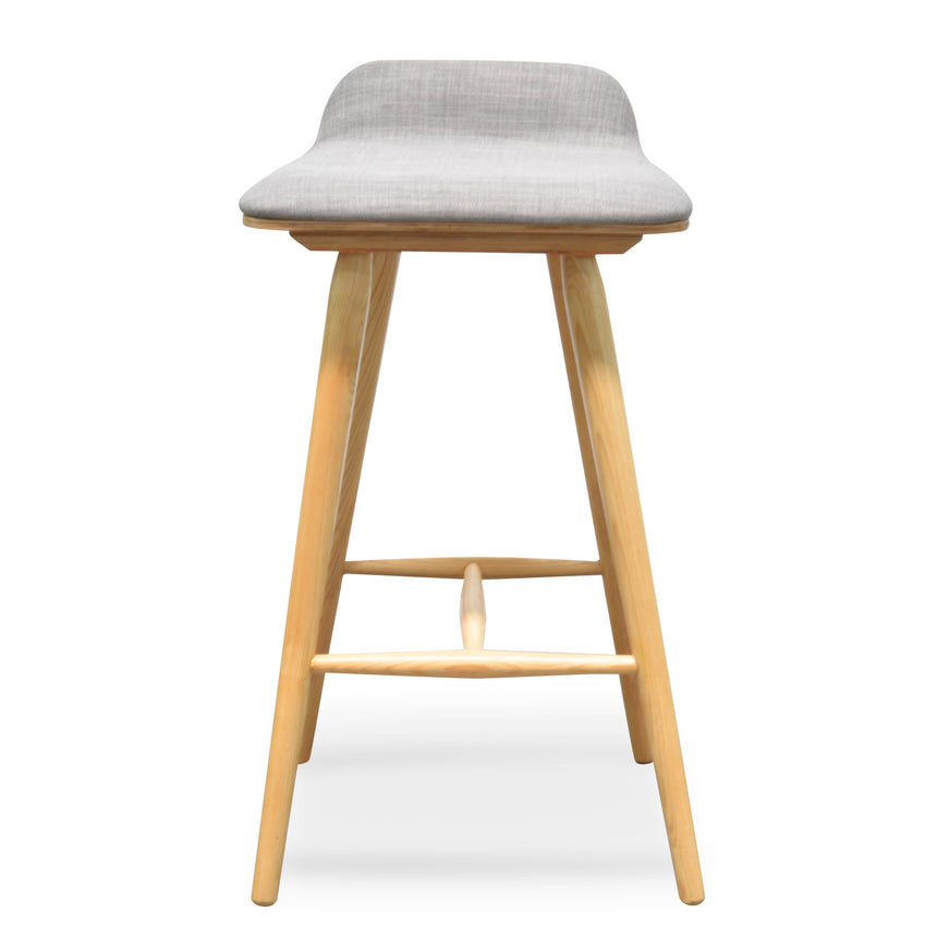 CBS937-DR 65cm Bar Stool - Grey - Natural