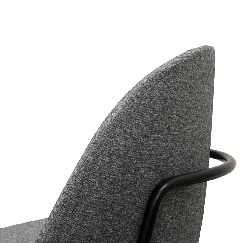 CDC2051-SD Dining Chair - Light Grey - Black Legs