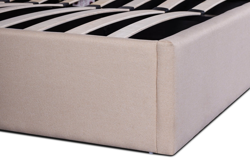 CBD6005-YO Fabric Queen Bed - Beige - Tufted Headboard