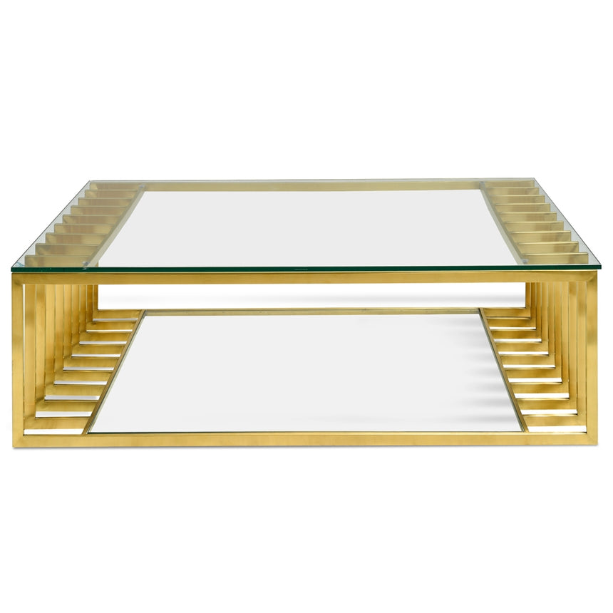 CCF2353-KS 1.3m Glass Coffee Table - Gold Base