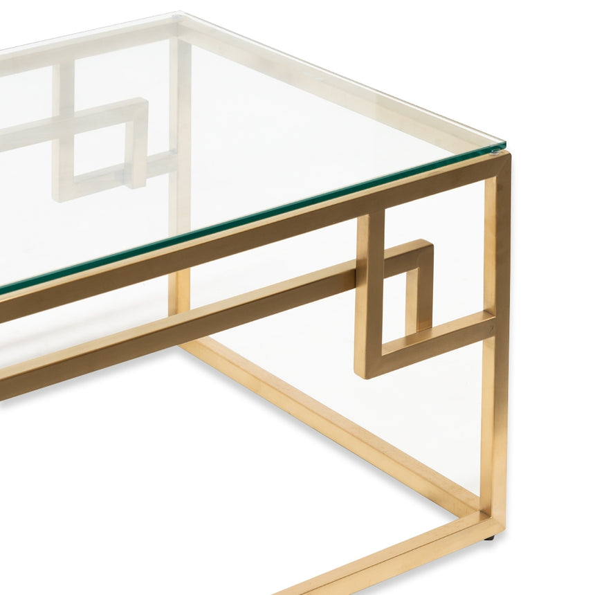 CCF2421-BS 1.2m Coffee Table - Glass Top - Brushed Gold Base