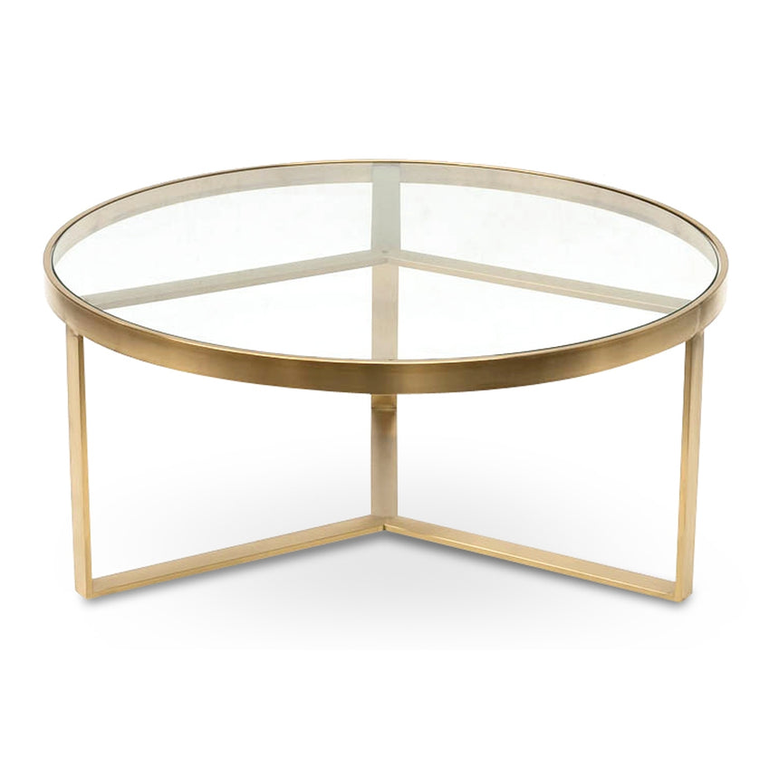 CCF2427-BS 90cm Coffee Table - Brushed Gold Base