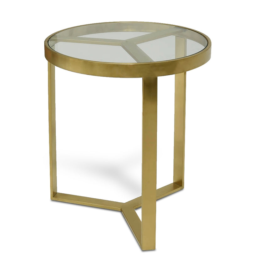 CCF2428-BS  50cm Side Table - Brushed Gold Base