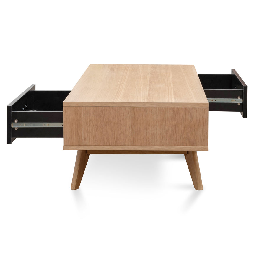 CCF2602-KD 120cm Coffee Table In Natural - Black