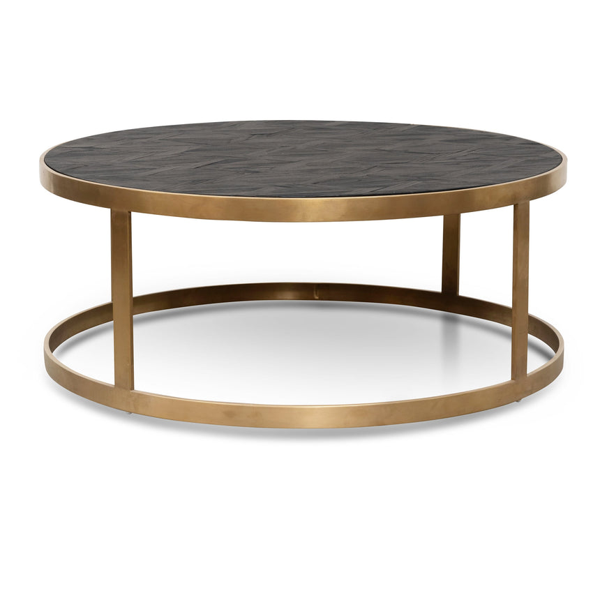 CCF2794-NI - Coffee Table - Black - Golden Base