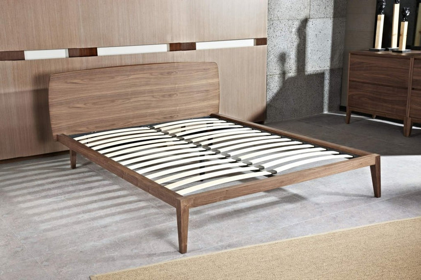 CBD2158-CN Queen Sized Bed Frame - Walnut
