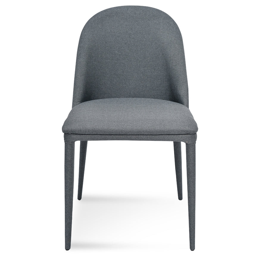 CDC2236-EI Fabric Dining Chair - Gunmetal Grey
