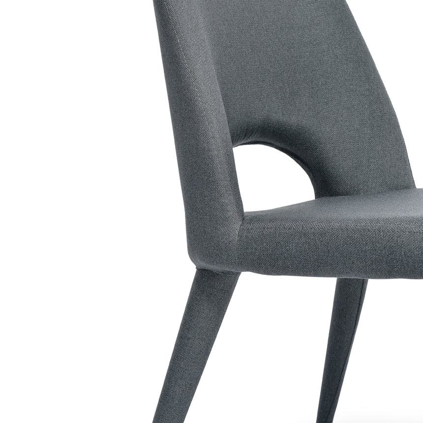 CDC2237-EI Fabric Dining Chair - Gunmetal Grey