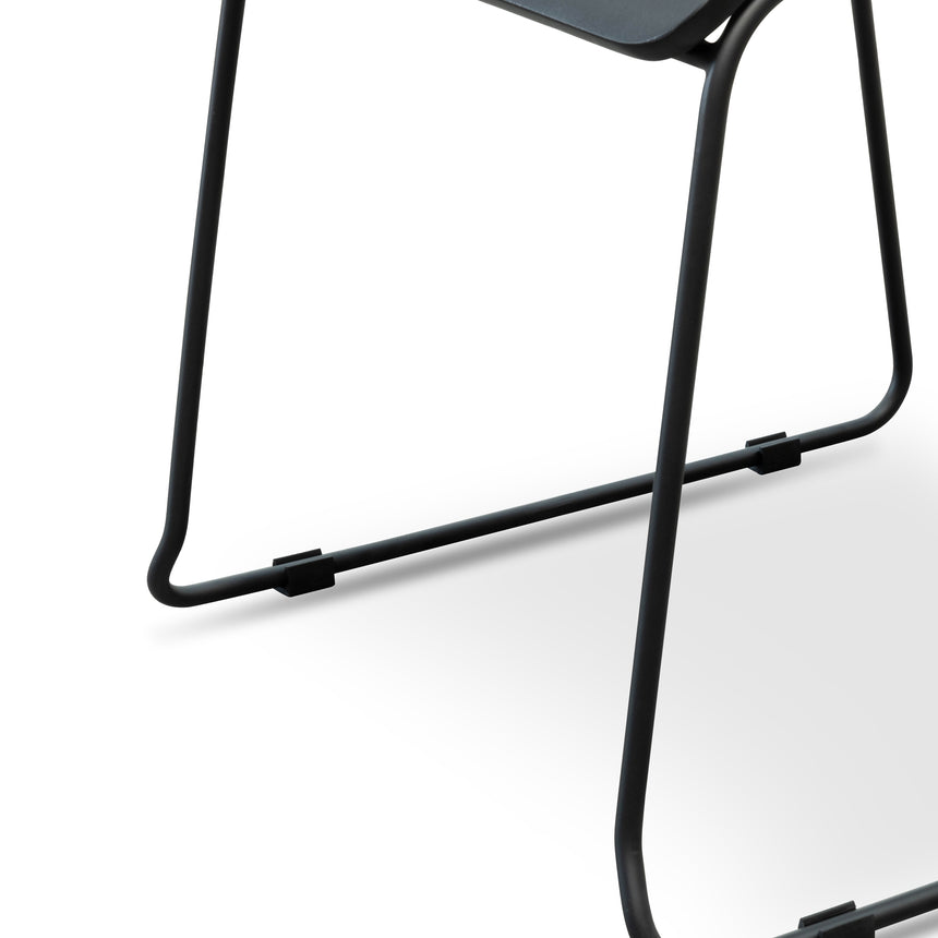 CDC2474-NH Dining Chair With Black Timber Seat - Black Frame