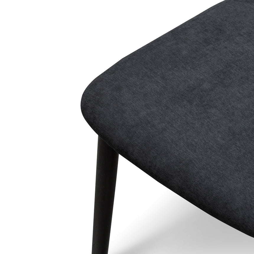 CDC6054-KD Fabric Dining Chair - Wooden Legs - Black