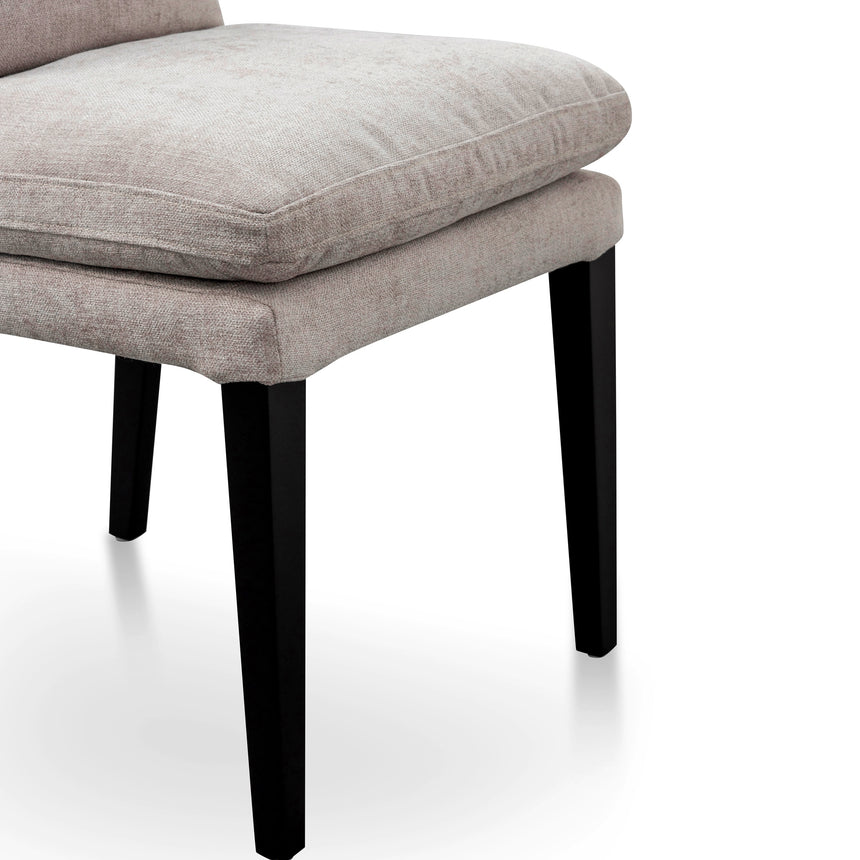 DC6096-KSO Fabric Dining Chair - Oyster Beige with Black Legs