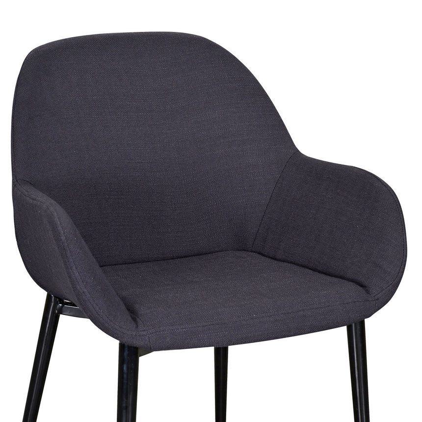 CDC961-SD Fabric Dining Chair - Black