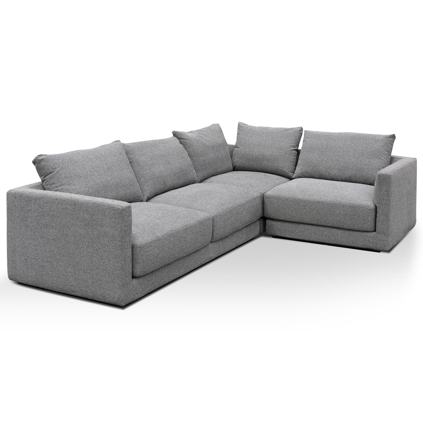 CLC6184-SKS Fabric Right Corner Sofa - Rock Grey