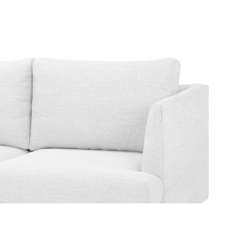 CLC722 3 Seater Sofa - Light Texture Grey with black legs