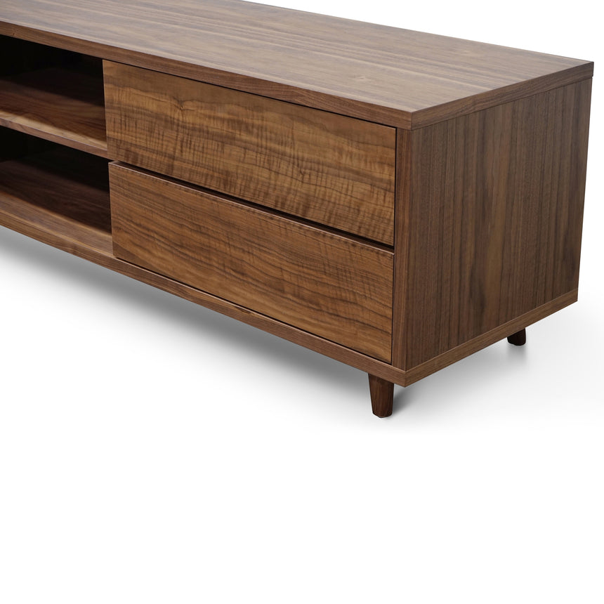 CTV370 Scandinavian 2m TV Entertainment Unit - Lowline - Walnut