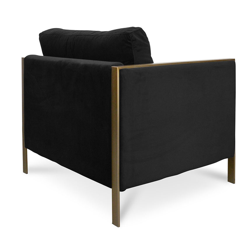 CLC2112-KL Fabric Armchair in Black Velvet