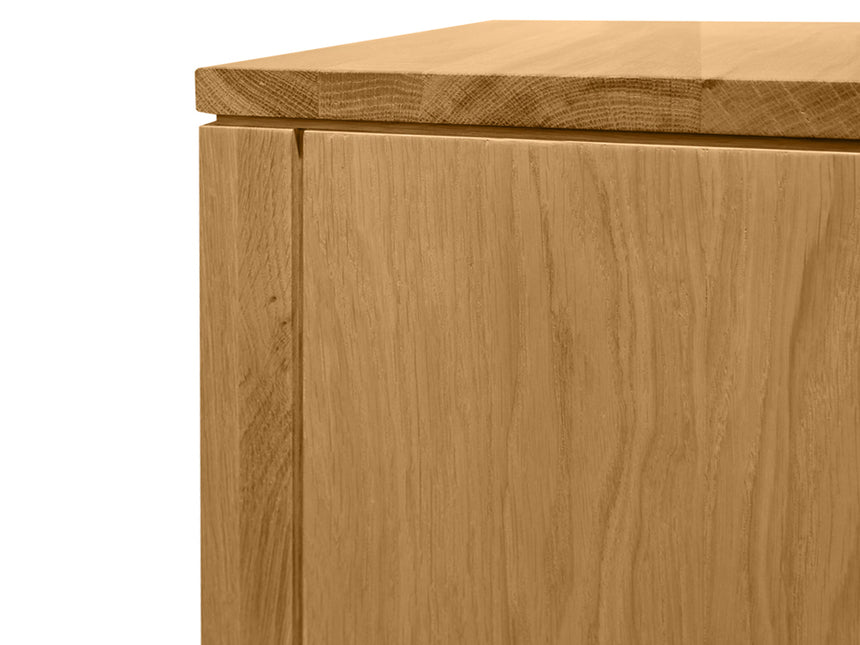 CCF490 2 Drawer Wooden Bedside Table - Natural Oak