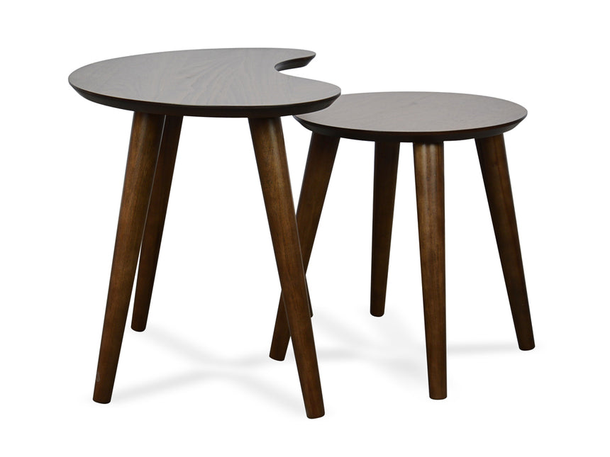 CCF693WAL-VN Nest of Side Tables - Walnut