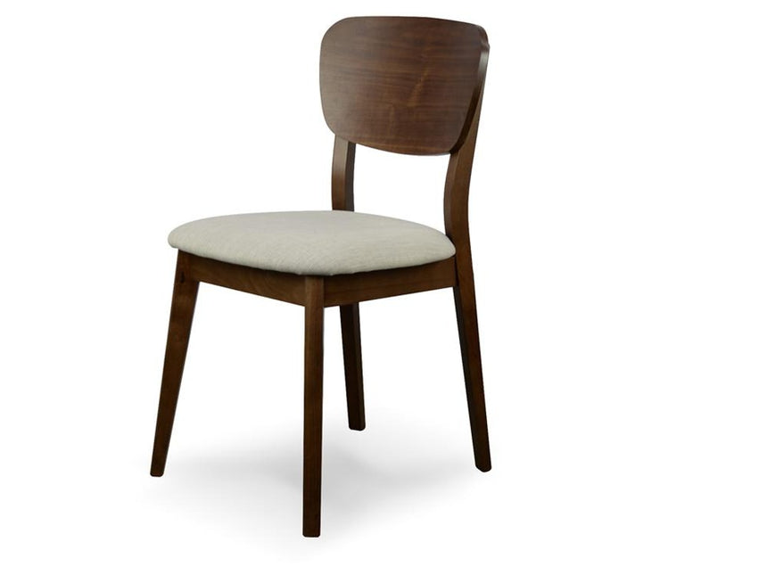 CDC785WAL-VN Veneer Dining Chair - Fabric Seat - Walnut