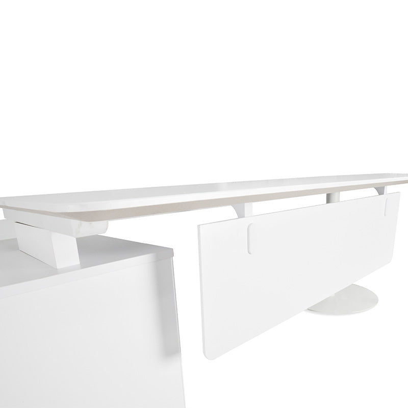 COT194 2.52m Executive Office Desk right  Return - White