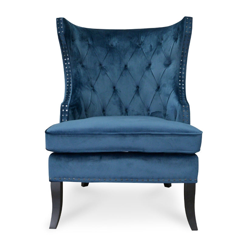 CLC2044-CA Velvet Armchair in Navy Blue