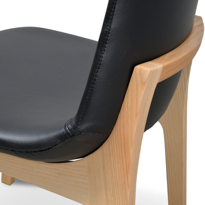 CDC2047-SD Cozy Dining Chair - Black PU - Natural Base