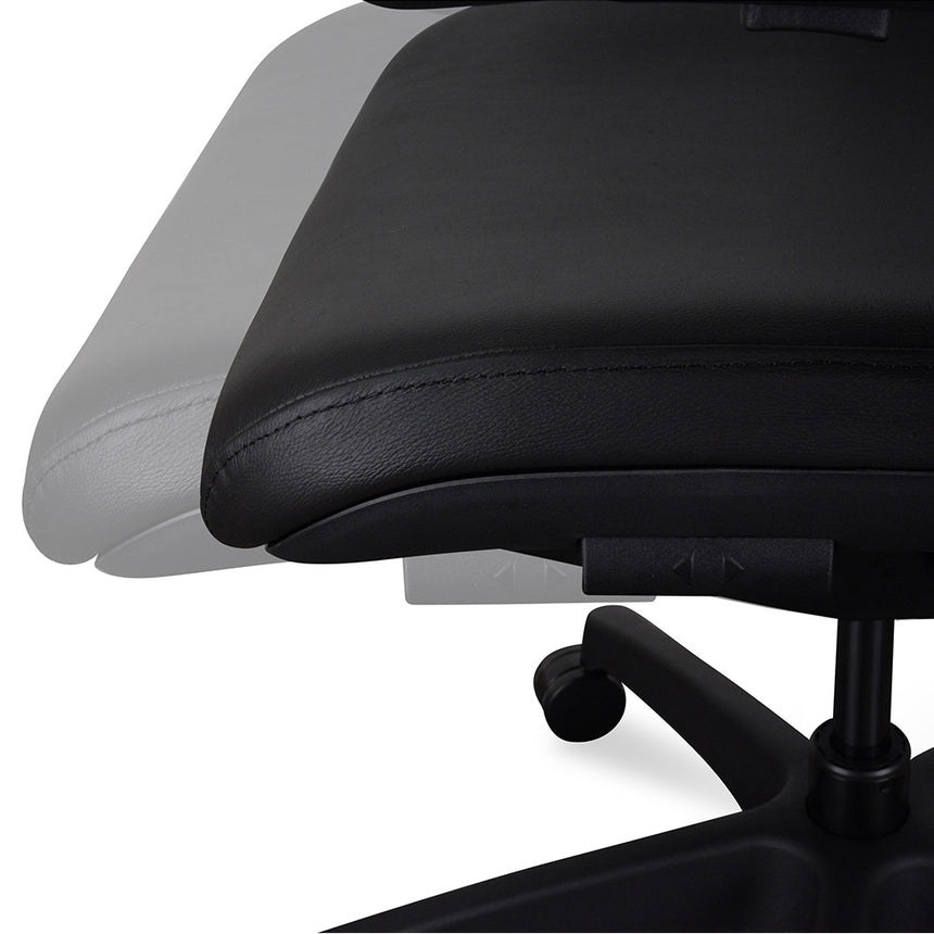 OC2151-UN Ergonomic Leather Office Chair - Black