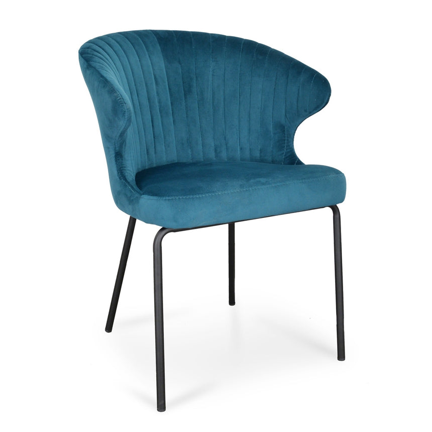 CDC2057-DW Kayla Dining Chair - Turquoise Velvet