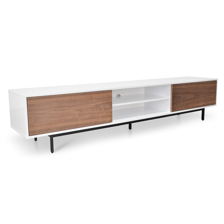 CTV1136-BB 2.3m TV Entertainment Unit - Lowline - Walnut