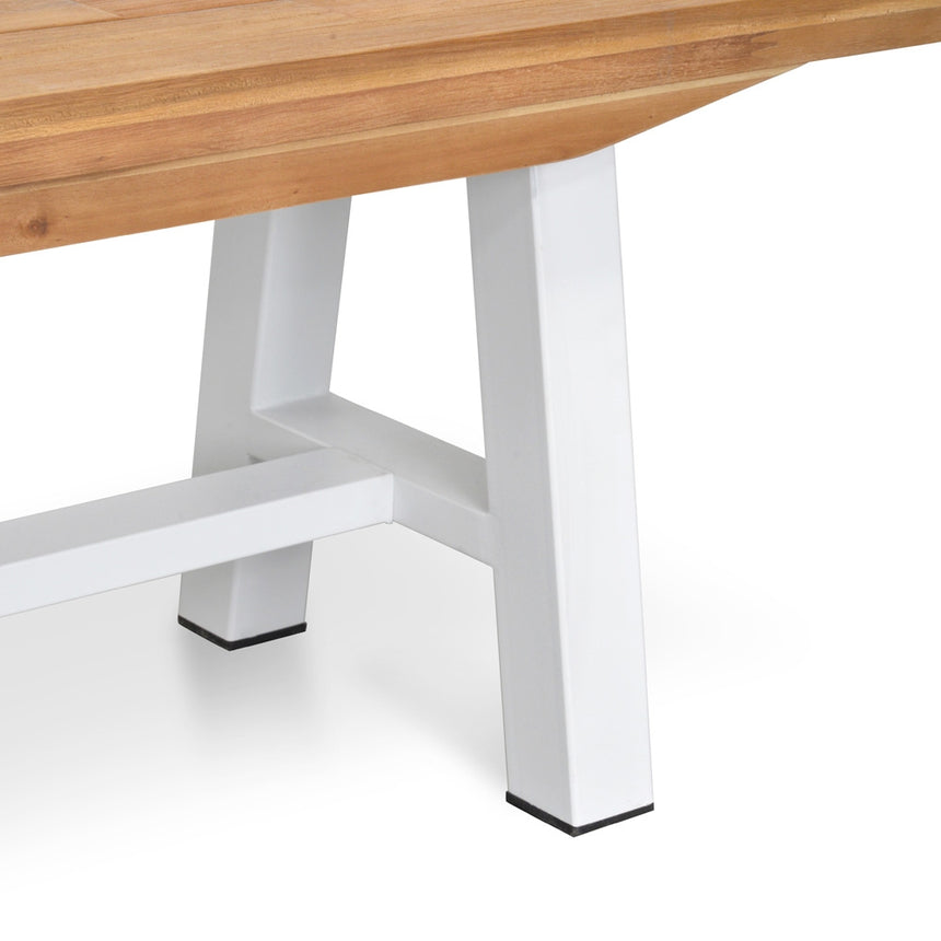 CDT2029 Outdoor Bench - White Legs