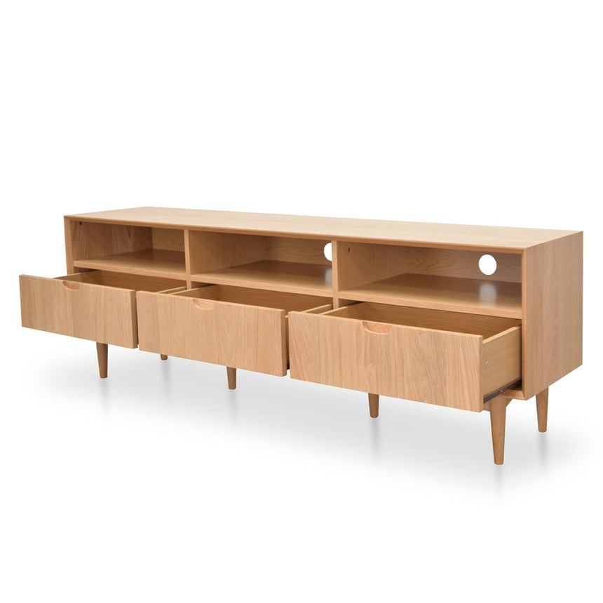 CTV2117-VN Scandinavian 180cm TV Entertainment Unit With 3 Drawers - Natural