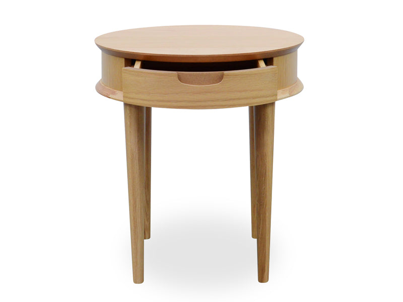 CCF692-VN Scandinavian Lamp Side Table with Drawers - Natural