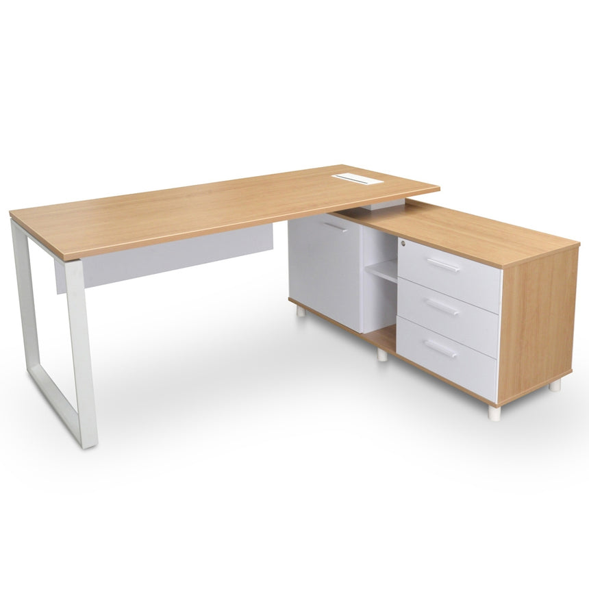 COT2095-SN 180cm Executive Office Desk With Right Return - Natural