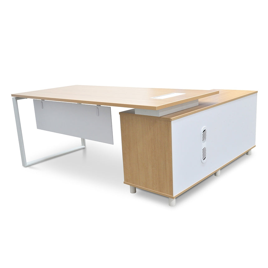 COT2094-SN 180cm Executive Office Desk With Left Return - Natural
