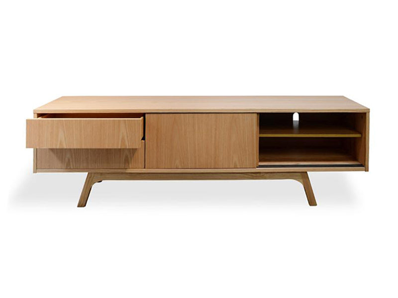 CTV325-BB 180cm TV Entertainment Unit - Lowline - Natural Veneer