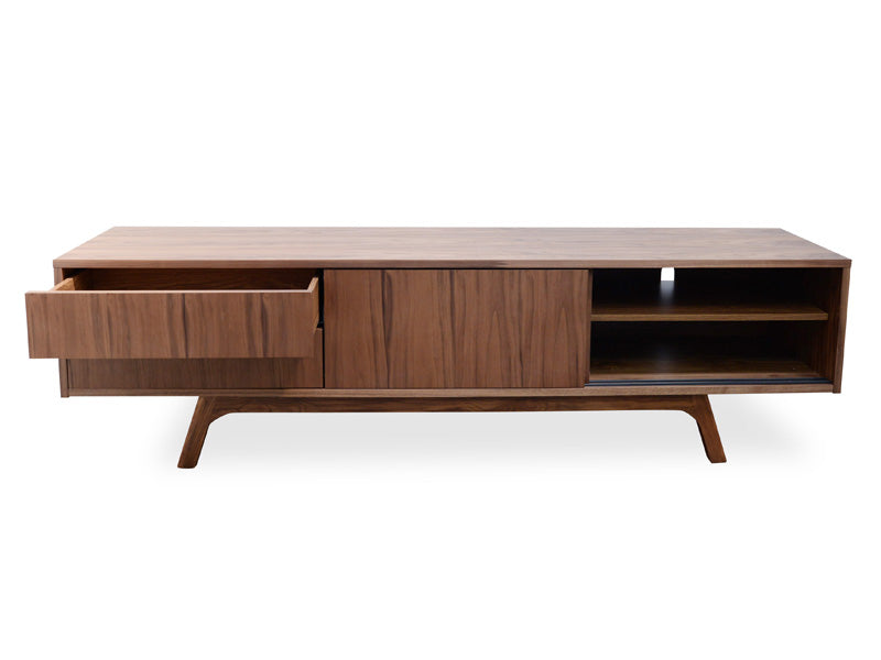 CTV326-BB 180cm TV Scandinavian Entertainment Unit - Walnut Veneer