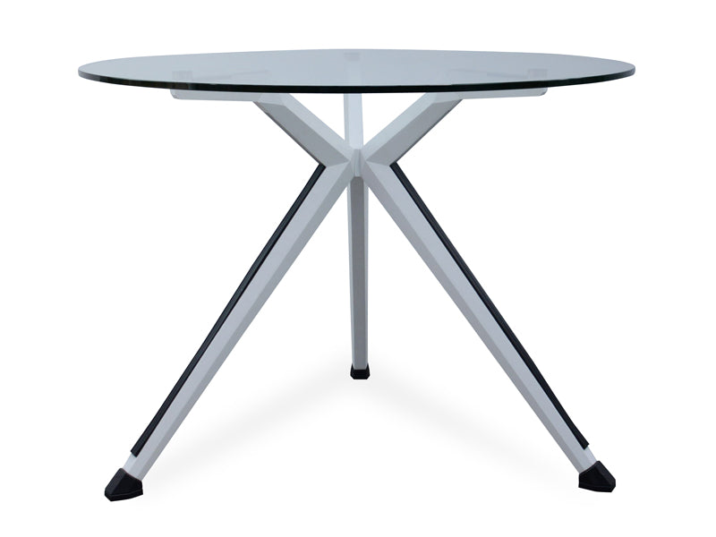 COT260 Round Office Meeting Table - Tempered Glass Top