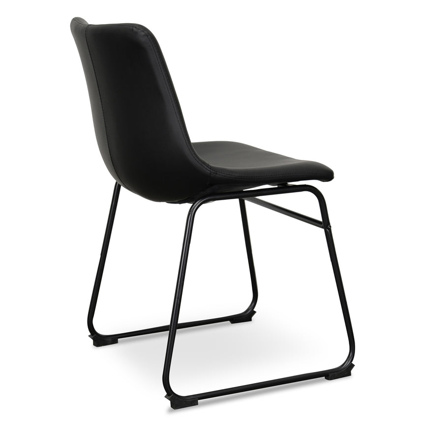 CDC2084-SE Industrial Dining Chair - Black PU (Set of 2)